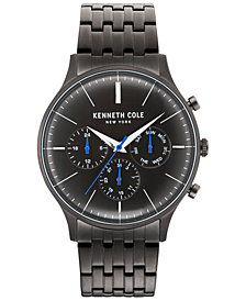Kenneth Cole New York Men's Gunmetal-Tone Stainless Steel Bracelet Watch 42mm
