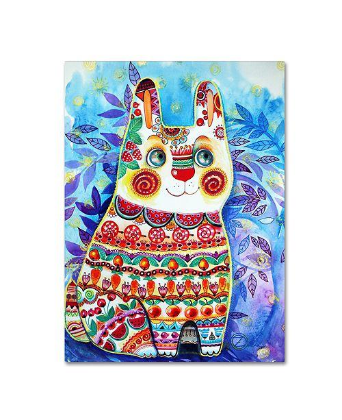 "Trademark Global Oxana Ziaka 'Rabbit' Canvas Art - 19"" x 14"" x 2"""