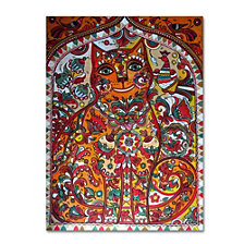 Oxana Ziaka 'Russian Red Cat' Canvas Art Collection