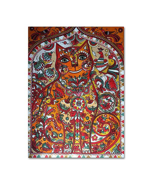 "Trademark Global Oxana Ziaka 'Russian Red Cat' Canvas Art - 19"" x 14"" x 2"""