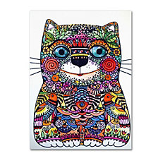 Oxana Ziaka 'Colorful Happy Cat' Canvas Art Collection