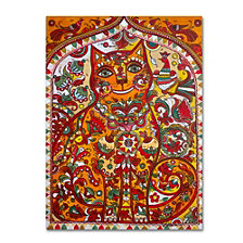 Oxana Ziaka 'Russian Red Cat 2' Canvas Art Collection