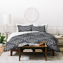 Deny Designs Holli Zollinger Grey Coral Twin Duvet Set