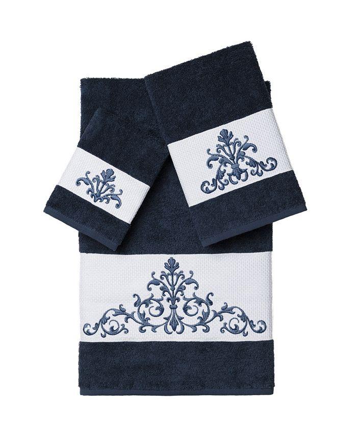 Linum Home - SCARLET 3PC Embellished Towel Set