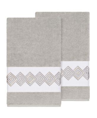 Noah 2-Pc. Embellished Bath Towel Set