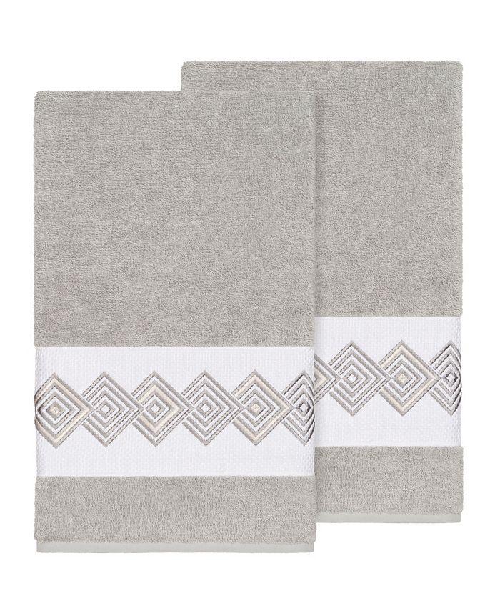 Linum Home - NOAH 2PC Embellished Bath Towel Set