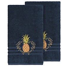Welcome 2-Pc. Embellished Bath Towel Set
