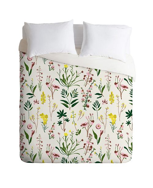Deny Designs Holli Zollinger Wildflower Study Light King Duvet Set
