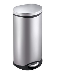 EKO Shell 50L Semi-Round Step Trash Can