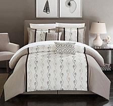 Chic Home Priston 6-Pc Queen Comforter Set