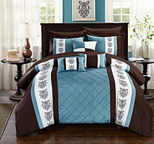 Chic Home Clayton 10-Pc Queen Comforter Set