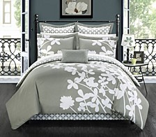 Iris 11-Pc King Comforter Set
