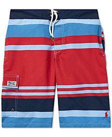 Polo Ralph Lauren Big Boys Kailua Striped Swim Trunks