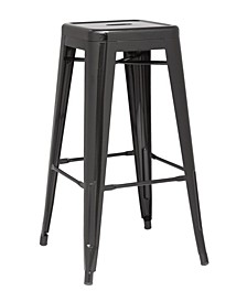 Galvanized Steel Bar Stool (Set of 4)