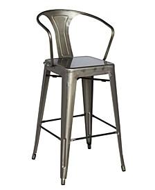Bella Luna Galvanized Steel Bar Stool (Set of 4)