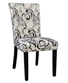 Bella Luna Wide Back Parson Side Chair (Set of 2)