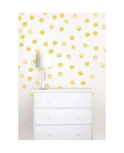 Brewster Home Fashions Metallic Gold Confetti Dots Set