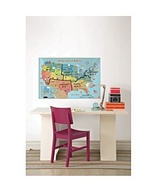 Kids Usa Dry Erase Map Decal