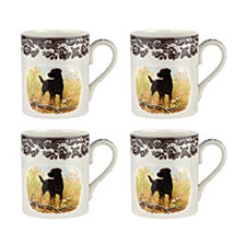 Spode Woodland Black Lab Mug - Set of 4