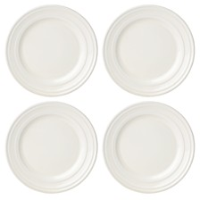 kate spade new york Set of 4 Sculpt Stripe Cream Salad/Accent Plates