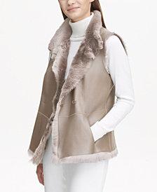 Calvin Klein Shearling Reversible Vest