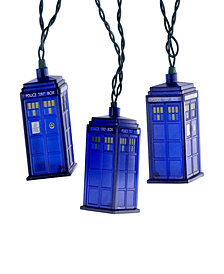 Kurt Adler UL 10 Light Doctor Who Blue Tardis Light Set