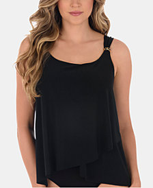 Miraclesuit Razzle Dazzle Underwire Asymmetrical Tankini Top, Available in D Cup