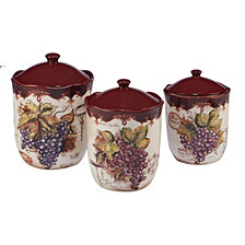 Certified International Vintners Journal 3-Pc. Canister Set