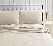 170-GSM Ultra-Soft Cotton Flannel Solid Extra Deep Pocket Sheet Set