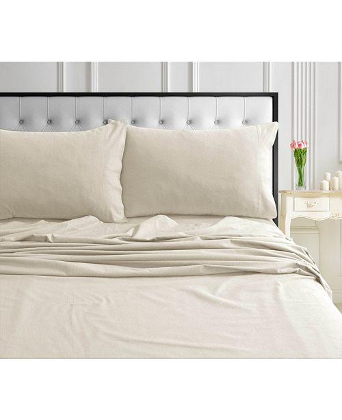 Tribeca Living 170-GSM Ultra-Soft Cotton Flannel Solid Extra Deep Pocket