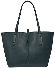 Market Metallic Lining Tote in Pebble Leather