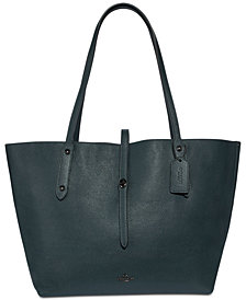 COACH Market Metallic Lining Tote in Pebble Leather
