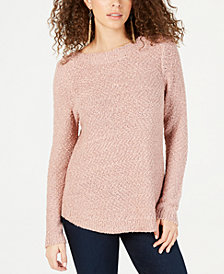 I.N.C. Textured-Knit Shimmer Sweater, Created for Macy's
