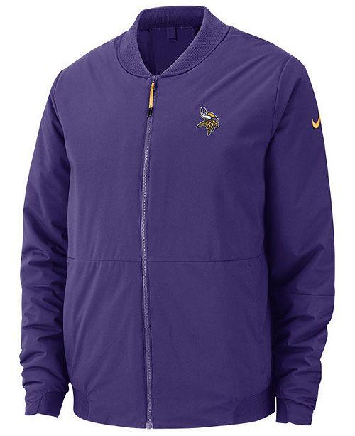 online retailer 4b287 e4a2e Nike Men's Minnesota Vikings Bomber Jacket & Reviews ...