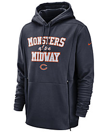 Nike Men's Chicago Bears Sideline Player Local Therma Hoodie