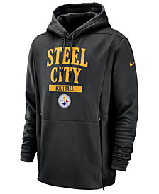 Nike Men's Pittsburgh Steelers Sideline Player Local Therma Hoodie