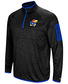 Colosseum Men's Kansas Jayhawks Amnesia Quarter-Zip Pullover