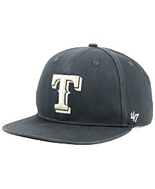 '47 Brand Texas Rangers Garment Washed Navy Snapback Cap
