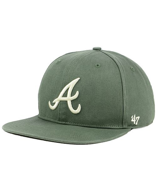 47 Brand Atlanta Braves Moss Snapback Cap - Sports Fan Shop By Lids ... bc0dd2529f94