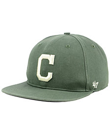 '47 Brand Cleveland Indians Moss Snapback Cap