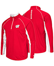 Colosseum Men's Wisconsin Badgers Rival Quarter-Zip Pullover