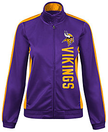 G-III Sports Women's Minnesota Vikings Backfield Track Jacket