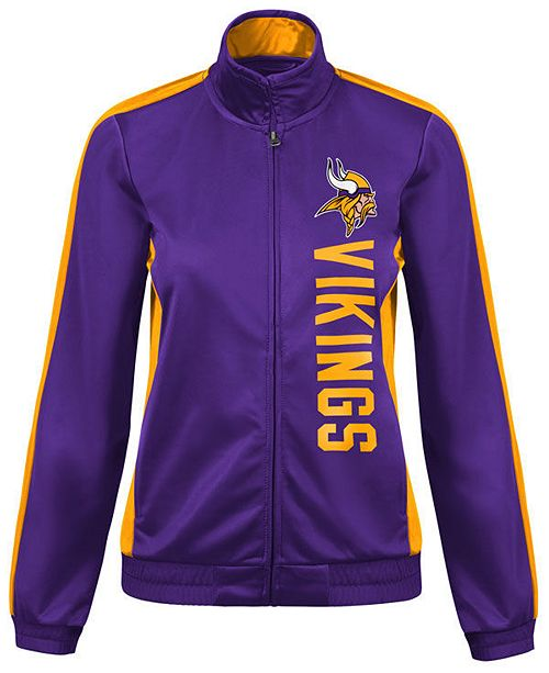 new styles 54da7 25148 Women's Minnesota Vikings Backfield Track Jacket