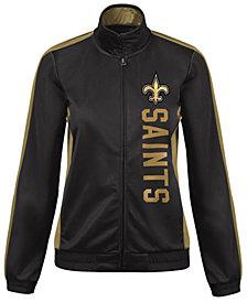 G-III Sports Women's New Orleans Saints Backfield Track Jacket