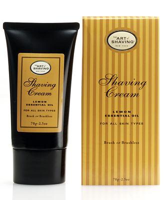 The Art of Shaving Lemon Shaving Cream, 2.5 oz
