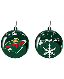 "Memory Company Minnesota Wild 3"" Sled Glass Ball"