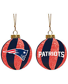 "Memory Company New England Patriots 3"" Sparkle Glass Ball"