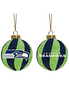 "Memory Company Seattle Seahawks 3"" Sparkle Glass Ball"