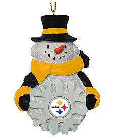 Memory Company Pittsburgh Steelers Snowflake Snowman Ornament