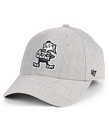 Cleveland Browns Heathered Black White MVP Adjustable Cap